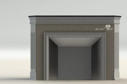 3D модель камина 4