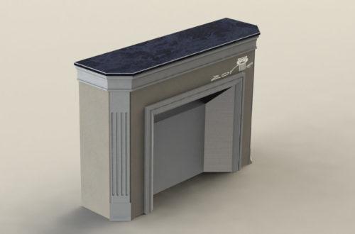 3D модель камина 5