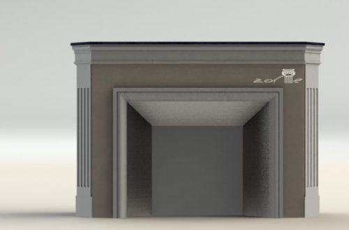 3D модель камина 6