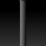 Полуколонна 3D модель