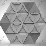 """панно """"Треугольники"""" 3D"""